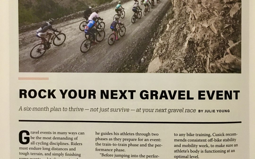 Rock Your Next Gravel Event – A six-month plan to thrive, not just survive, at your next gravel event – Velo News Spring 2021